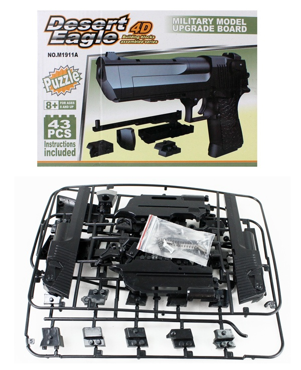Pistole Bausatz 43 Teile - in Box ca 23,5x16,5x5cm