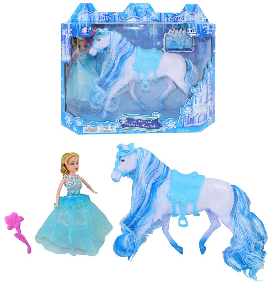 Puppe Prinzessin + Pferd in Schachtel ca 30x26x8cm
