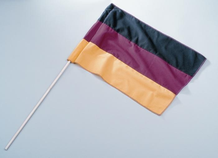 Deutschlandfahne  ca  45 x 30 cm, mit Stab