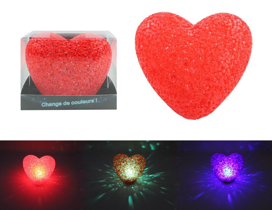 Herzlampe mit Farbwechsel ca 11,5 cm