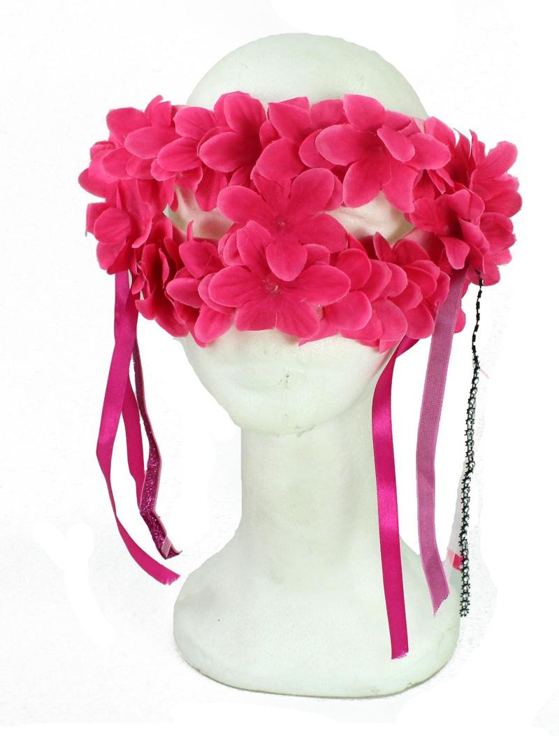 Blüten Augenmaske pink
