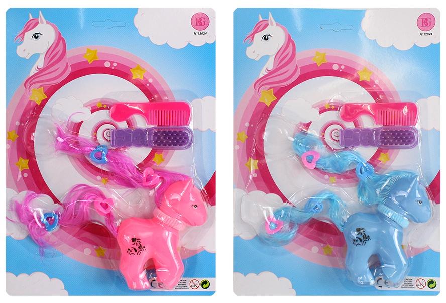 Ponyspielset Kämmpony mit Zubehör 2 farbig sortiert