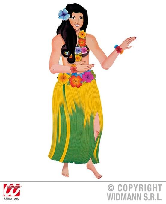 Hawaiianerin beweglich Deko - ca 135cm