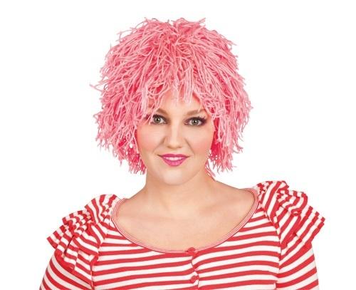 Perücke - Fuzz Garnperücke Clown rosa