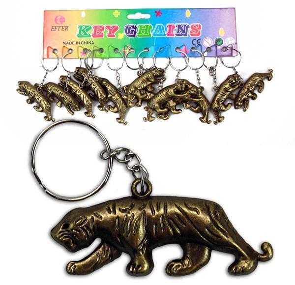 Tiger gold an Schlüsselanhänger - ca 6,5cm
