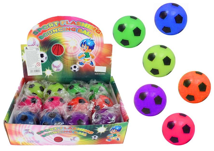 Leuchtball Fußball 6 farbig sortiert ca 55 mm