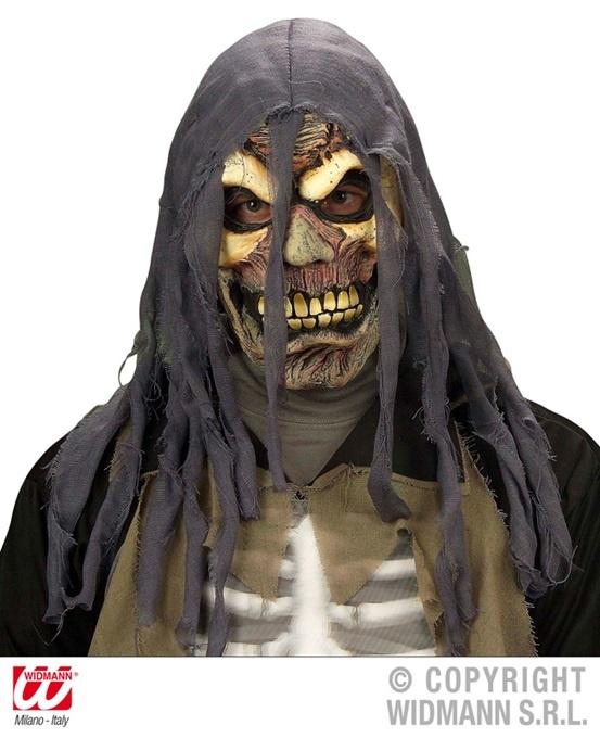 Maske - Zombie mit zerissener Kapuze