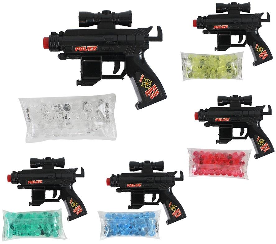 Pistole mit Gelkugeln 5 farbig sortiert - ca 14cm