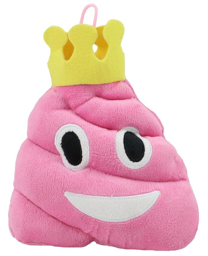 Plüsch Haufen pink mit Krone Emoticon ca 20 cm