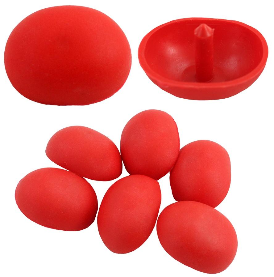 Nase Bastelnase Plüschtiernase rot ca 40x30 mm