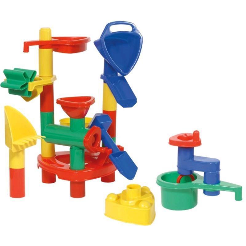 LENA Sand- und Wasserspielzeug 24 teilig in Box ca40x30x20cm