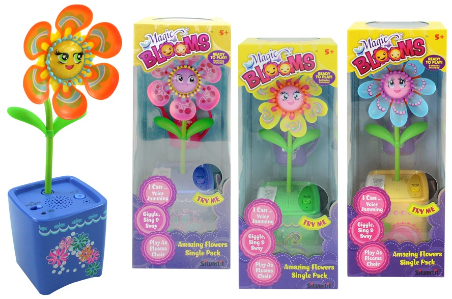 Magic Bloom interaktive Blume mehrfach sortiert - ca 20cm
