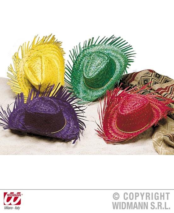Strohhut Gringo in 4 Farben sortiert