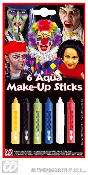 Make-up Set - Aqua Makeup 6 Farben auf Karte ca 11,5x21cm