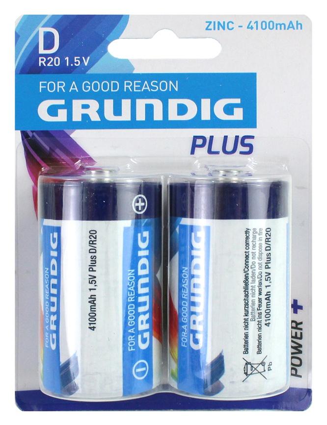 Batterie GRUNDIG  R20/D Mono - auf Karte ca 12x8,5cm