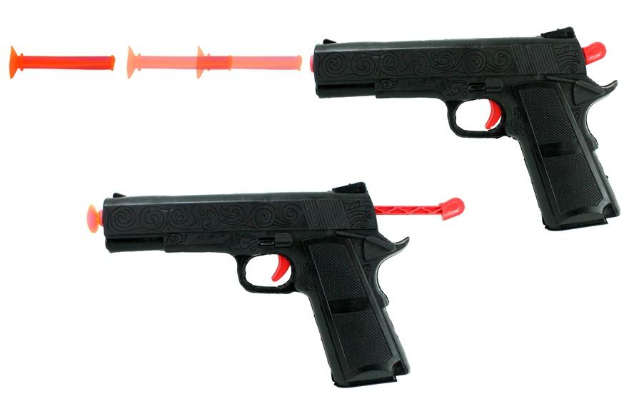 Pfeilpistole mit 3 Pfeilen - ca 22cm