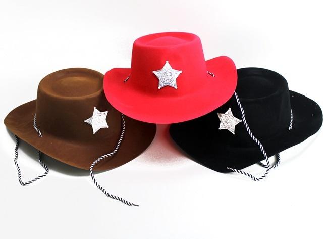 Cowboyhut 3 Farben sortiert - Einheitsgröße