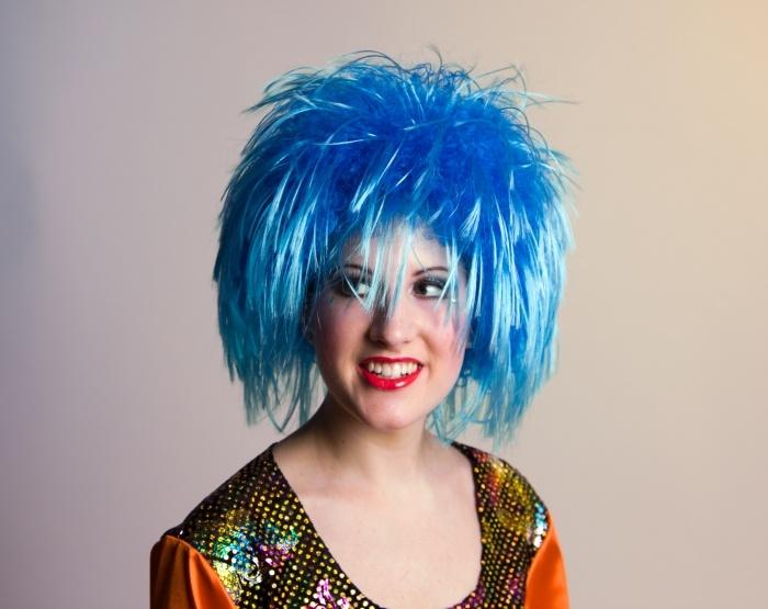 Perücke Nina, blau