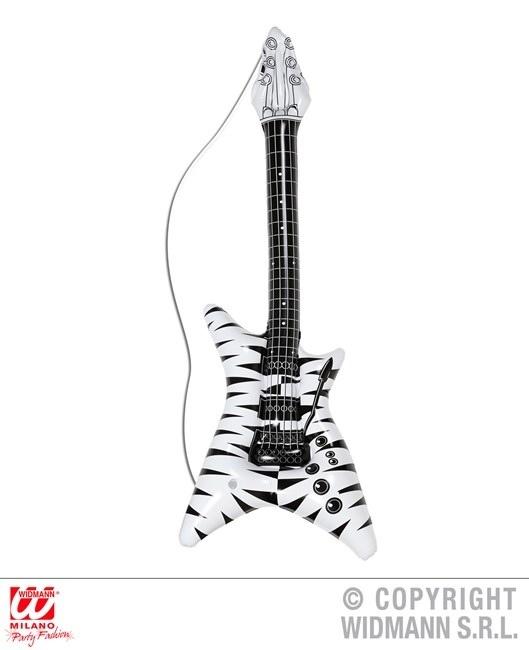 Rockgitarre mit Zebramuster aufblasbar ca 92 cm