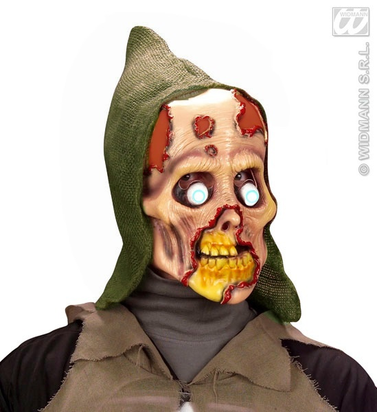 Maske - Totenkopf Zombie mit Haube