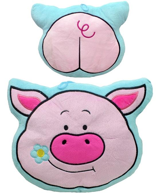 Kissen Glücksschwein - ca 30x25cm