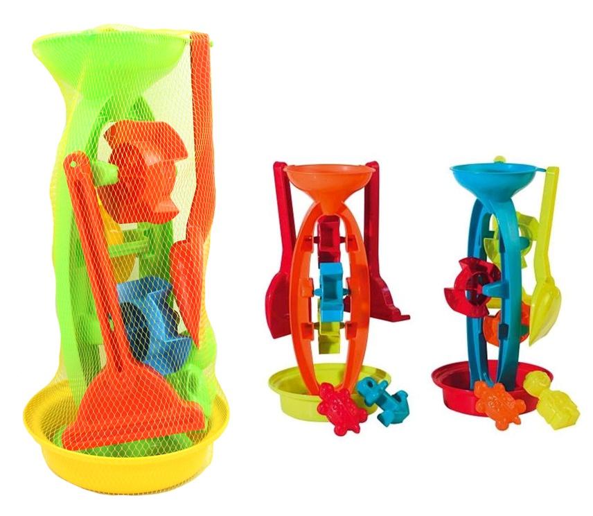SIMBA Sandspielzeug Wassermühle 3-fach sortiert - ca 35cm