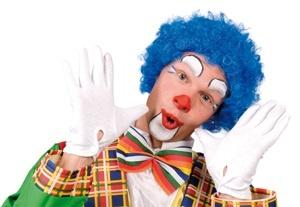 Perücke Clown blau
