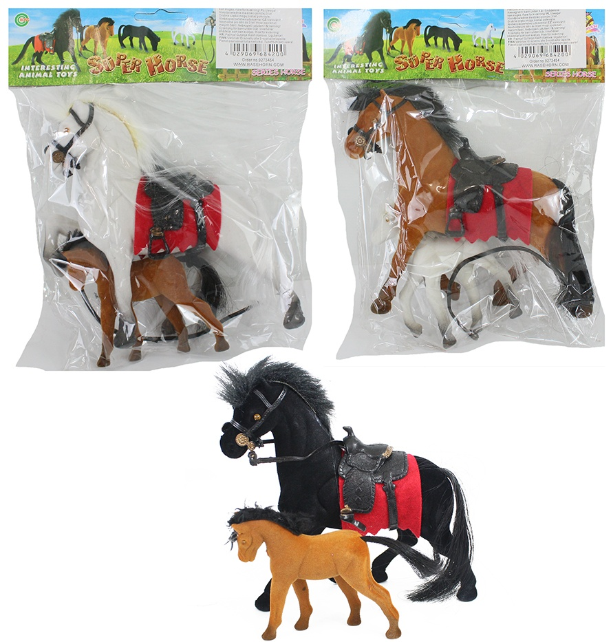 Fliska Pferd mit Fohlen 3-fach sortiert ca 17cm