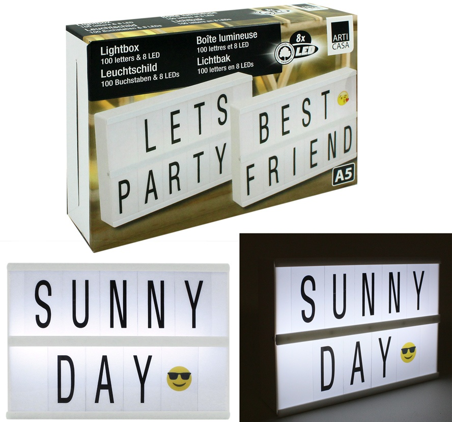 Light Box mit 8 LED  DIN A 5 in Karton ca 22,5x15,5x4,5cm