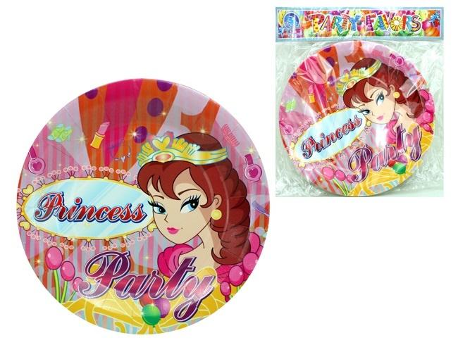 Teller Prinzessin Design 12 Stück im Beutel - ca 23cm