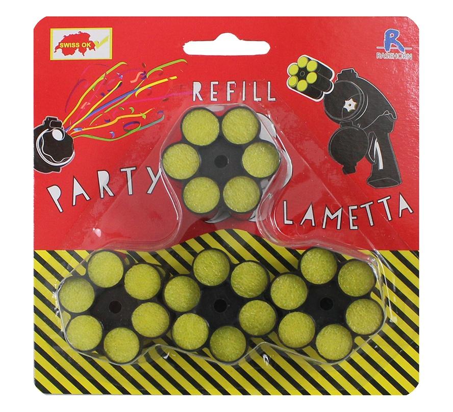 Lametta Munition 4 Patronen à 6 Schuss Karte ca 14,5x14,5cm