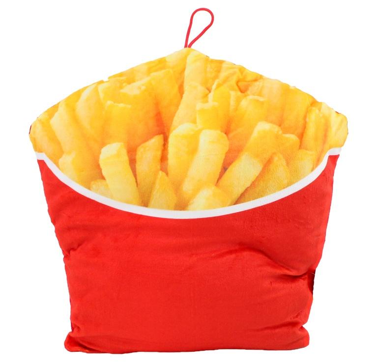 Fritten Pommes Kissen ca 32x33cm