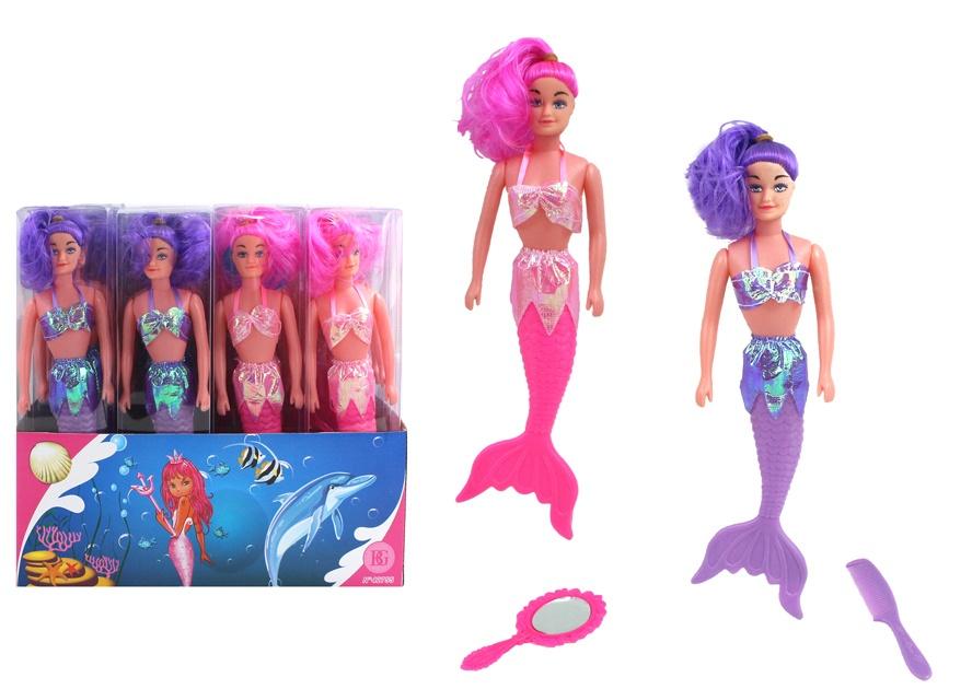 Puppe Meerjungfrau  mit Zubehör ca 29 cm