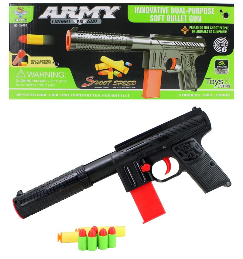 Pistole Soft Bullet für Softdarts & Softpatronen ca 30cm