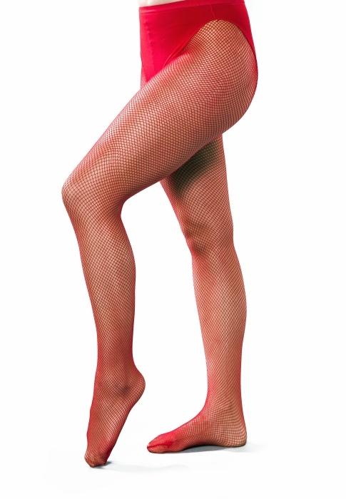 Netzstrumpfhose mit Slip, rot