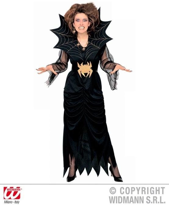 Kostüm Spiderlady (Kleid mit Stehkragen und Gürtel) Größe M
