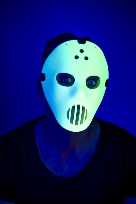 Hockey-Maske, nachleuchtend