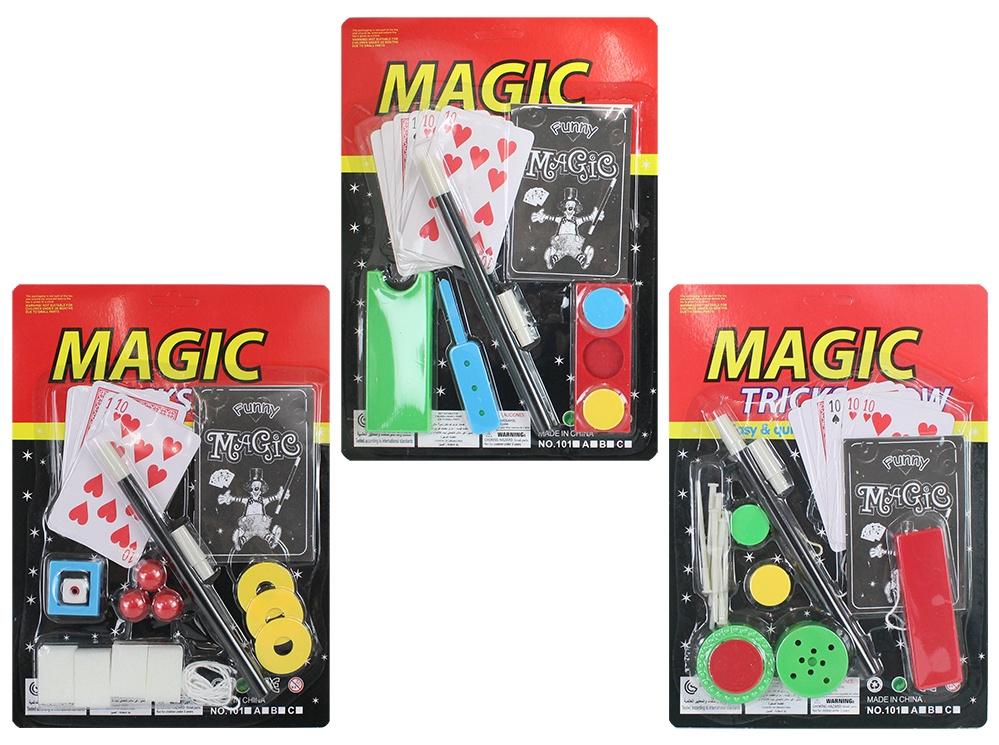 Zaubertricks 3-fach sortiert auf Karte ca 26 x 19 cm