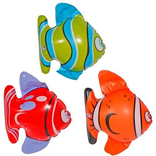 Fische 3 fach sortiert aufblasbar - ca  20cm