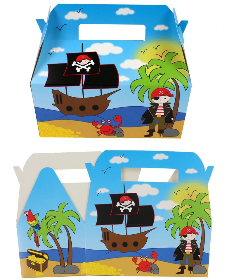 Geschenkbox Menübox Pirat ca 23,5x12,5x20cm