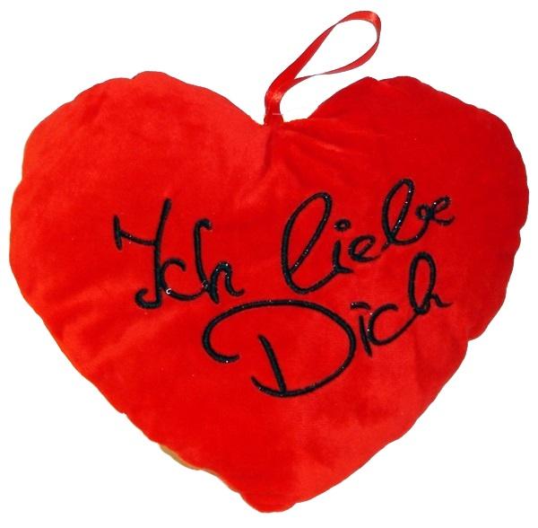 Herz rot Ich liebe Dich ca 18 cm