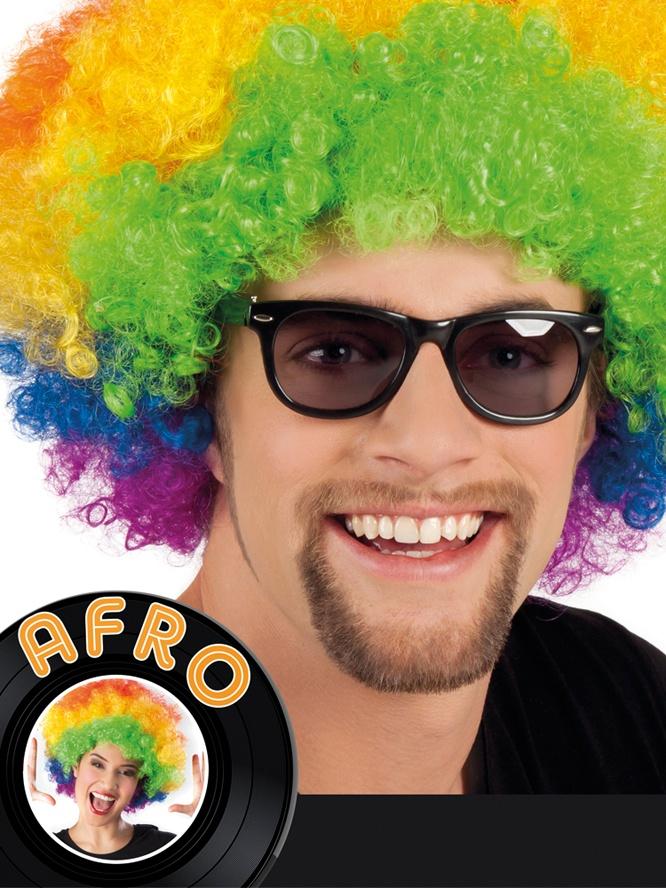 Perücke - Afro multi
