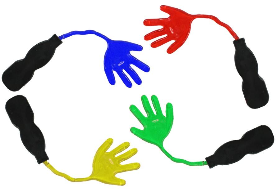 Klebeklatschhand - Stickyhand mit Griff ca 7cm