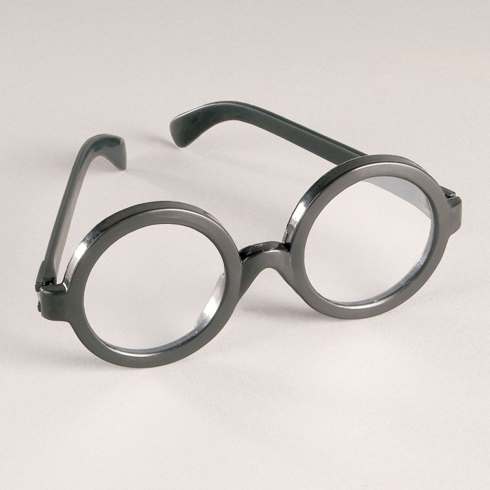 Brille Plastik schwarz