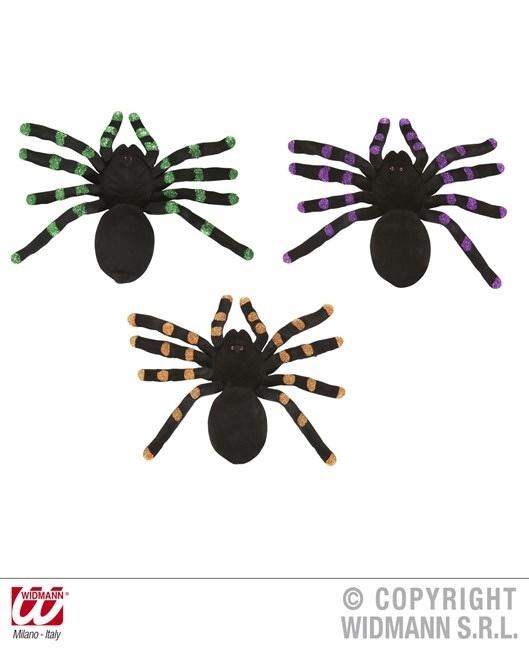 Spinne beflockt 3 Farben sortiert ca 24 cm