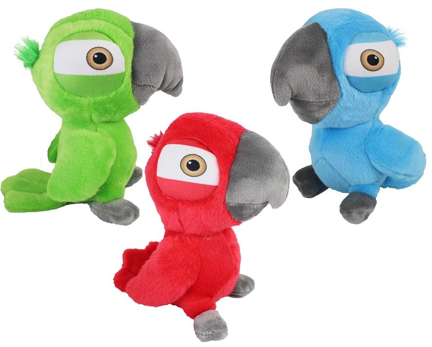 Papagei 3-farbig sortiert stehend ca 20cm