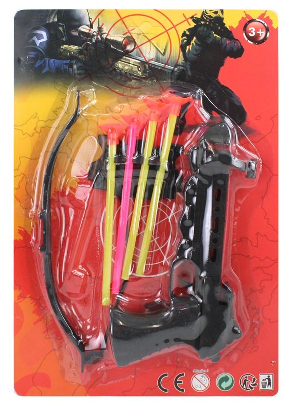 Armbrust mit 4 Pfeilen auf Karte ca 31,5x21,5cm