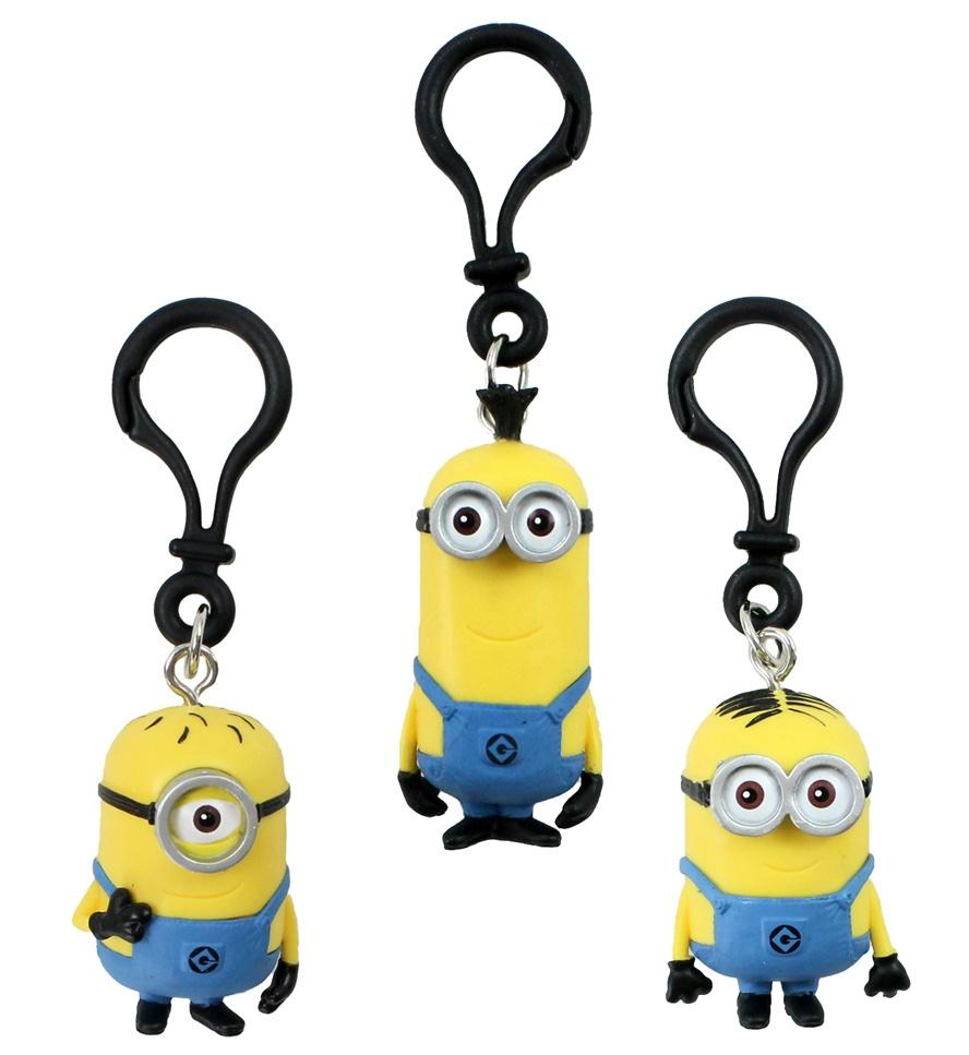 Minions an Bag Clip 3-fach sortiert ca 4,5-6,5 cm