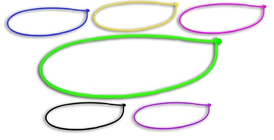 Kette - Halskette Silikon 6-fach sortiert Umfang ca 50 cm