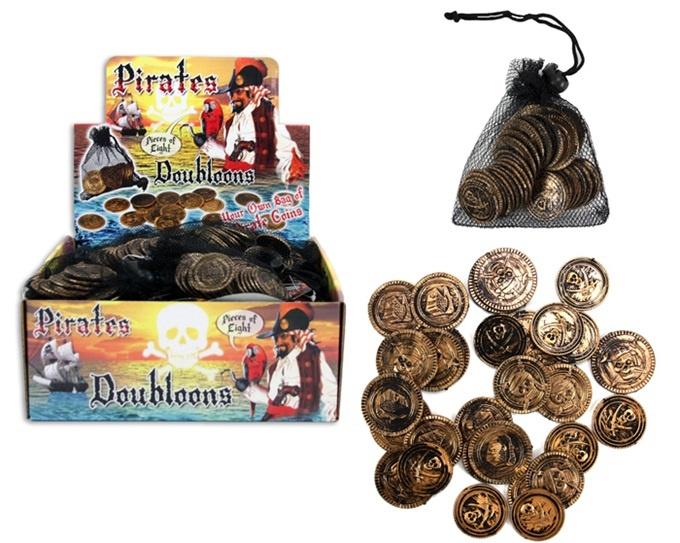 Piraten Münzen 30 Stück im Beutel - ca 2,5-3cm